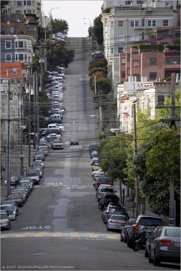 Jones Street on Russian Hill in San Francisco