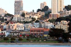 Russian Hill from Aquatic Park in San Francisco