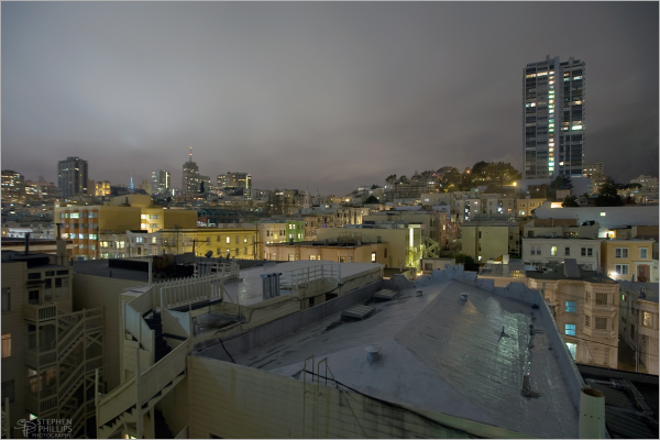 Rainy night on Russian Hill