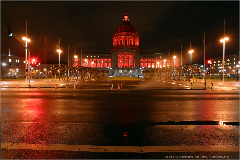San Francisco City Hall on Vallentine's Day