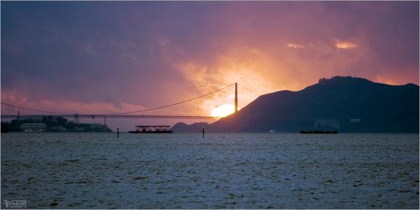 Stormy sunset across San Francisco Bay