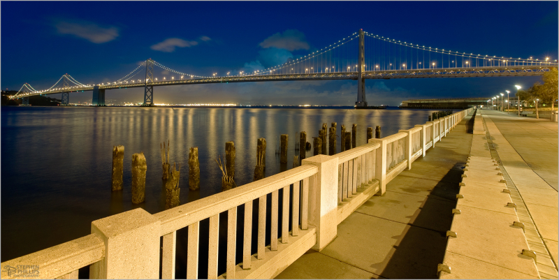 Bay Bridge twilight in San Francisco