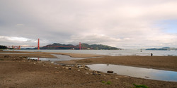skies clearing above the Golden Gate Bridge