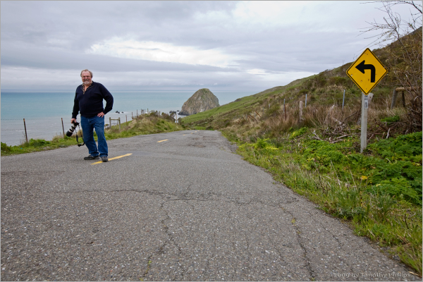 driving along The Lost Coast of California