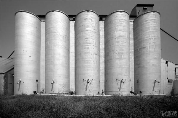 Grain elevator near Winters, California