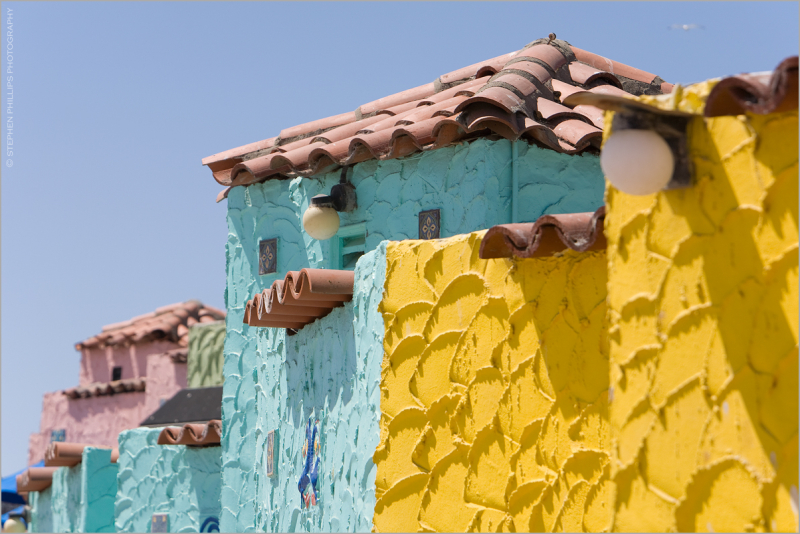 stucco cottages in Capitola, Califorfnia
