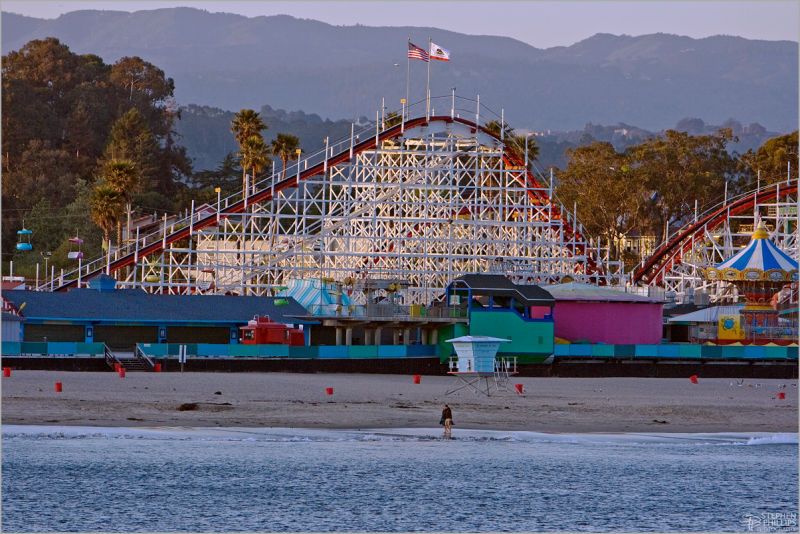 Santa Cruz Beach Boardwalk in the off season