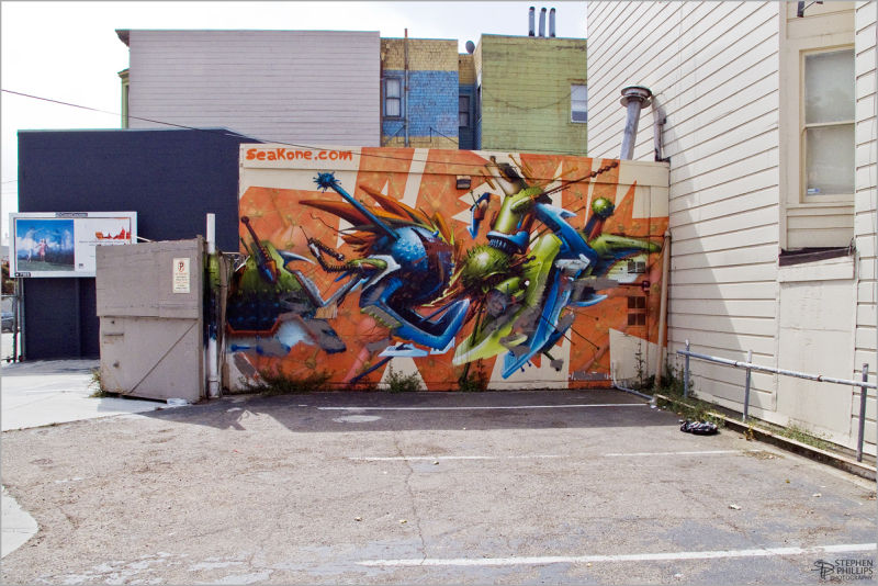 serious graffiti SOMA in San Francisco, Caliornia