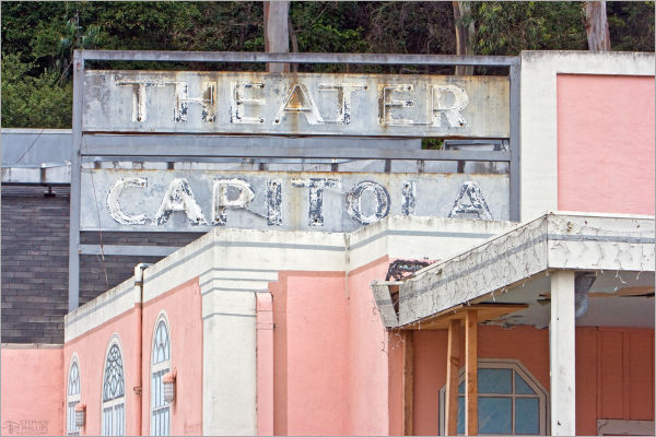 The old theater in Capitola, California