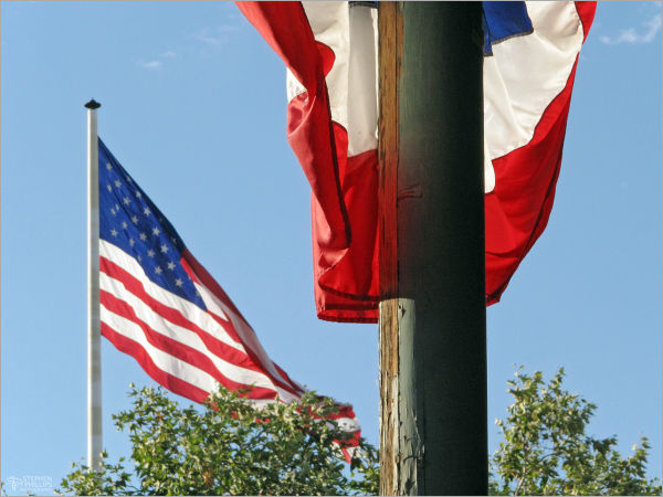 Red, White, and Blue - flags on the Fourth-of-July