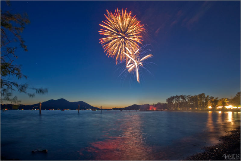 fireworks in Clearlake, California