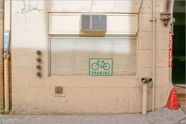bike parking urban oddity