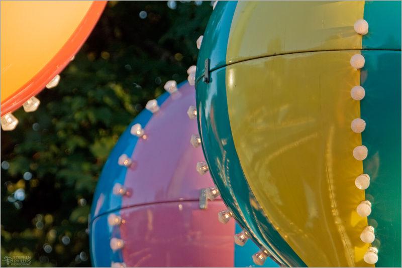 ridespheres in Oaks Amusement Park Portland Oregon