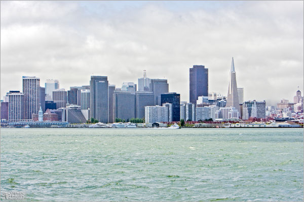 San Francisco skyline on a summer morning