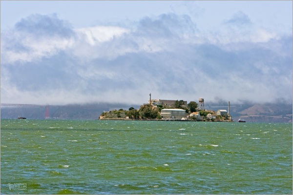 Wind Blown Waters Off Alcatraz