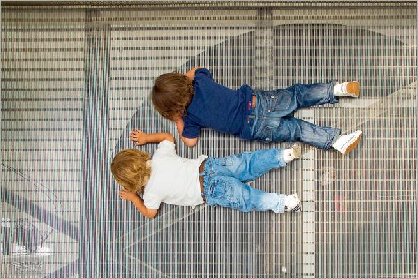 Children as kids on a catwalk