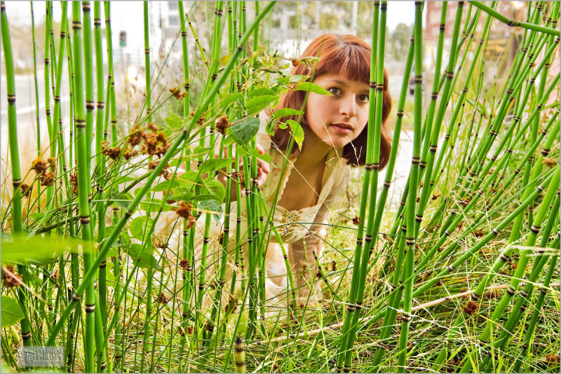 Woman at edge of Urban Jungle