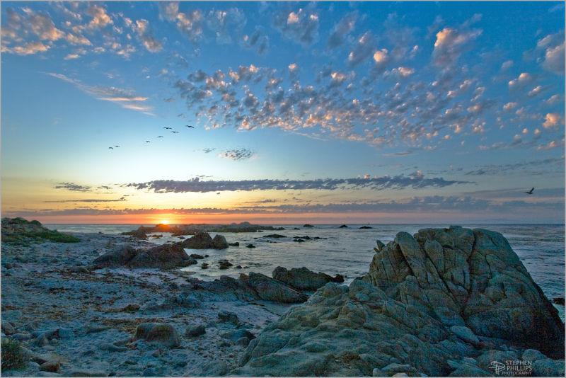 beautiful sunset at Pacfic Grove, Callifornia