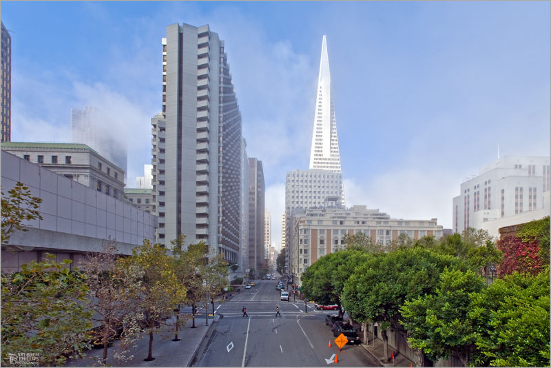 Clay Street in Financial District of San Francisco