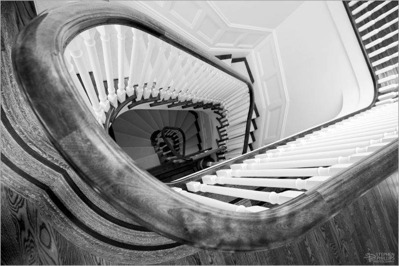 staircase Presdio Heights home