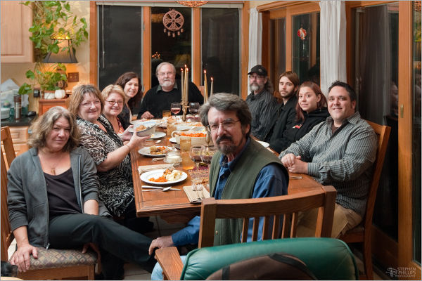 Thanksgiving gathering of friends