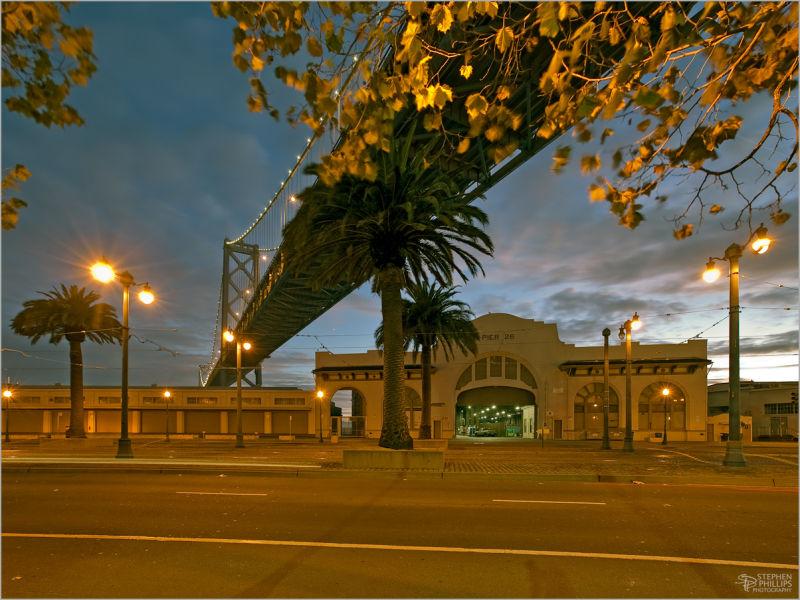 Daybreak along the San Francisco waterfront