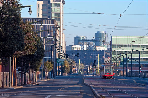 San Francisco trolley on Christmas Morning