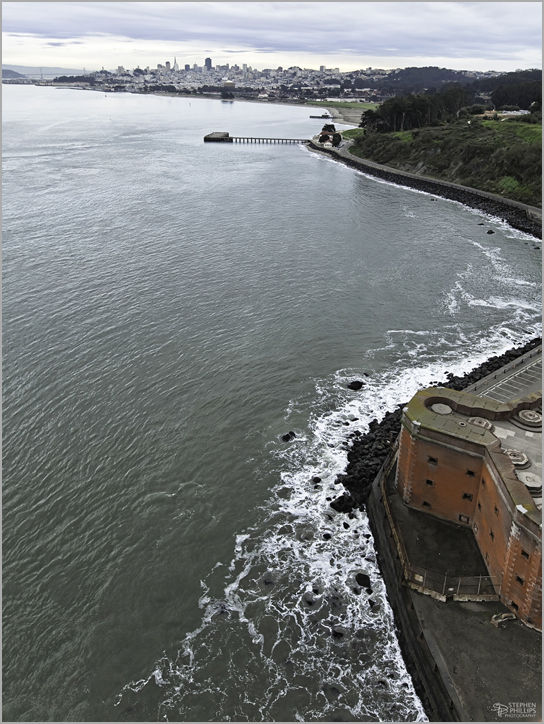 above fort point in San Francisco