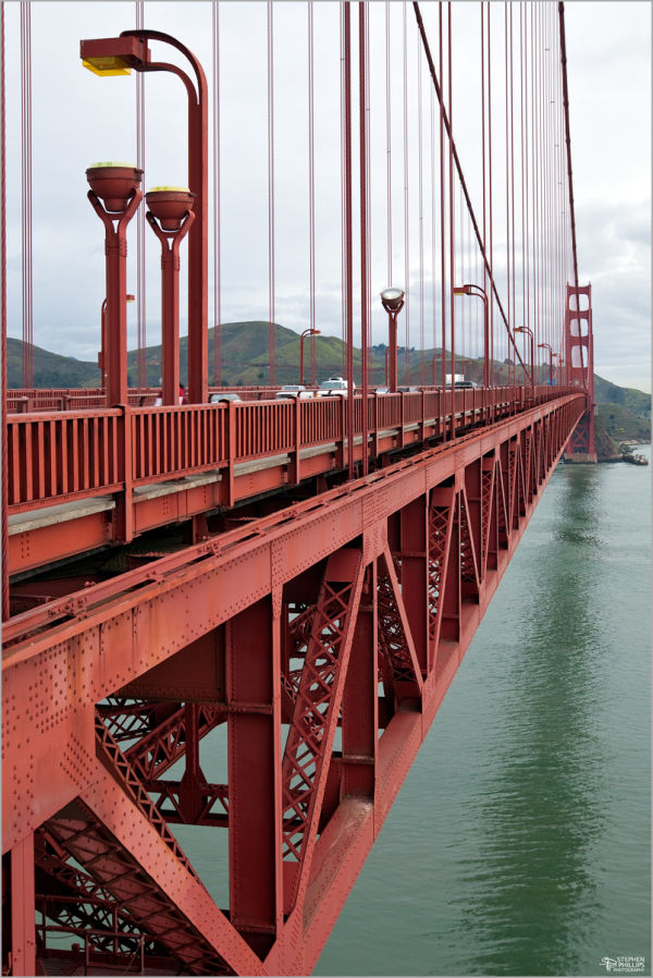 east face of The Golden Gate Bridge