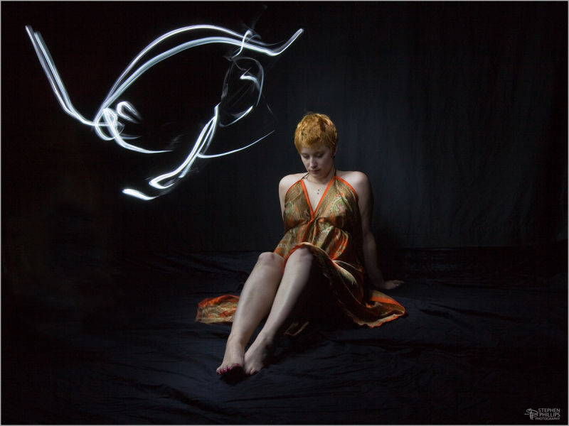 light painting with model NiCole