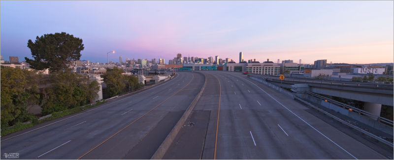 Interstae 280 in San Francisco without traffic
