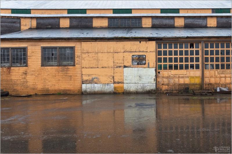 Abandoned Mill building in Reedsport Oregon