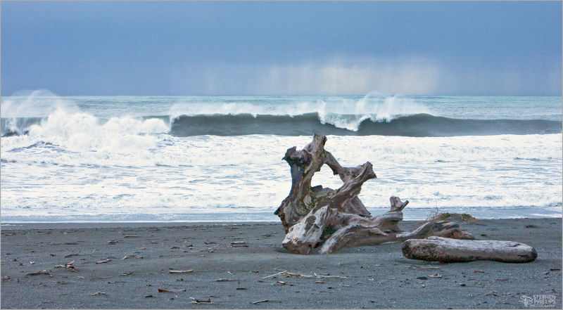 big surf at Dry Lagoon Humboldt County California