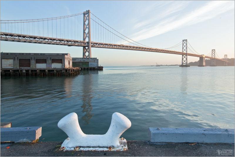 Sunrise at the san Francisco Bay Bridge