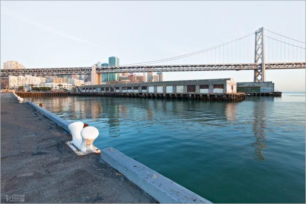 Daybreak San Francisco waterfront Bay Bridge
