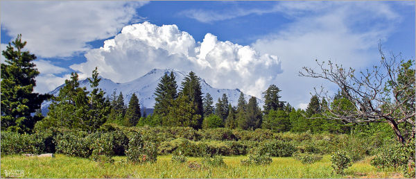 storm clouds at Mount Shasta California