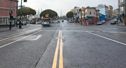 A misty morning Columbus Avenue San Francisco
