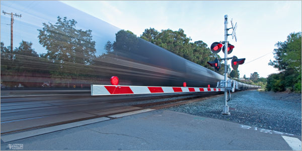 Union Pacific freight train in Pinole, California