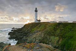 amazing sunset Pigeon Point lighthouse California