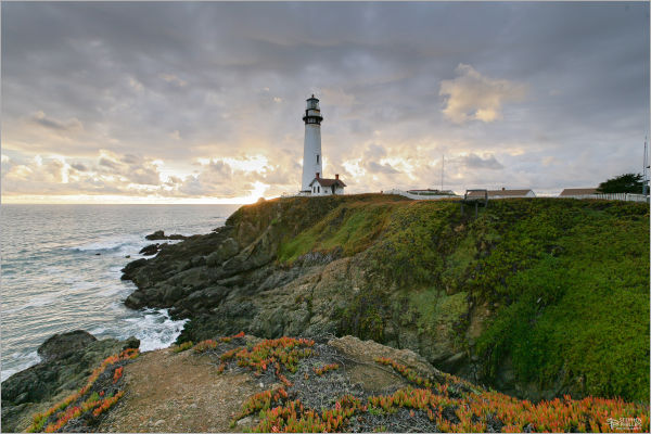 amazing sunset Pigeon Point lighthouse California