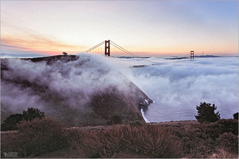 Daybreak above the Golden Gate San Francisco