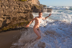 shocked nude with the incoming tide