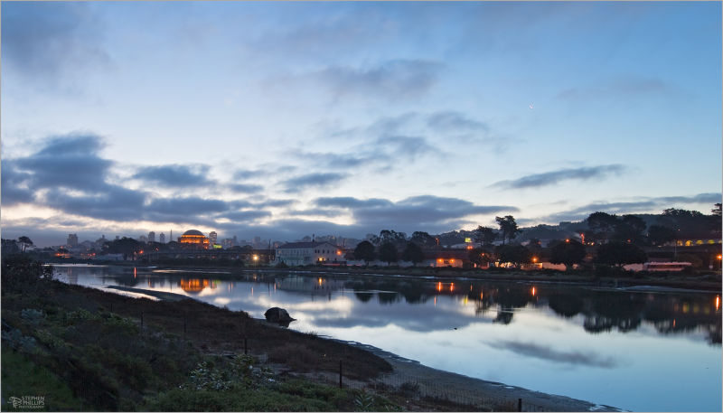 daybreak at Crissy field in San Francisco