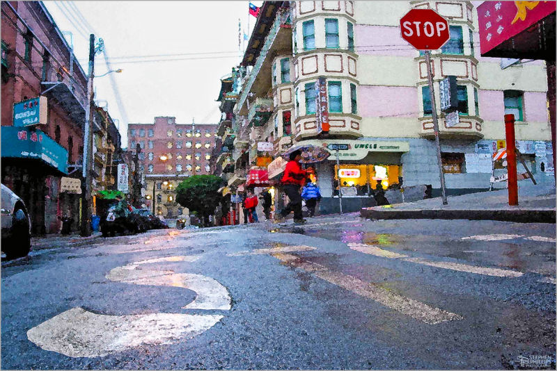 Rainy Day Waverly Place San Francisco California