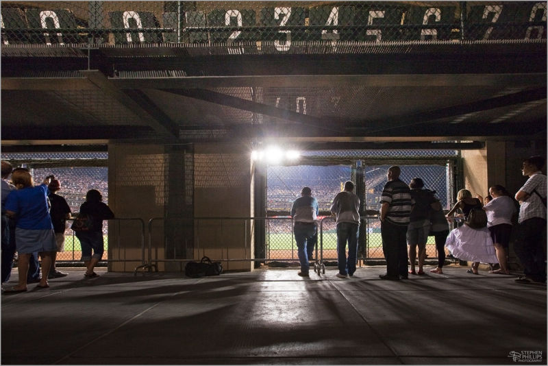 Knothole wall AT&T baseball park ballpark