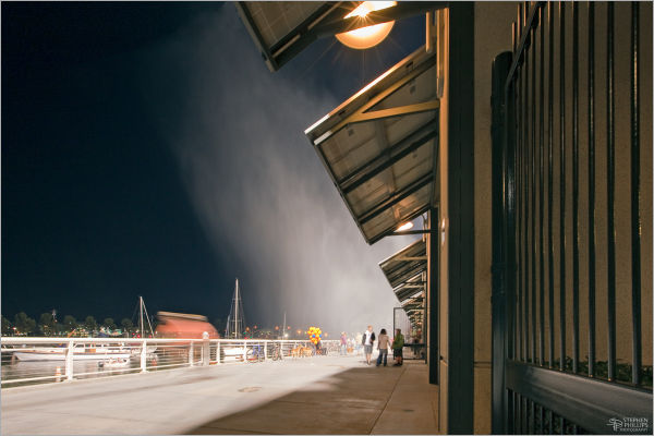 Water cannon AT&T baseball park ballpark