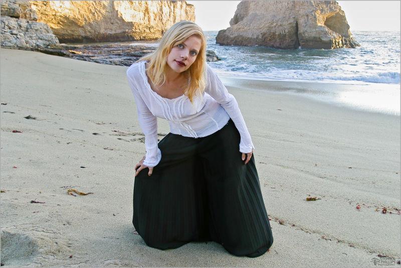 Molly Klaproth at the beach