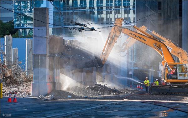 bus ramp demolition in san-francisco