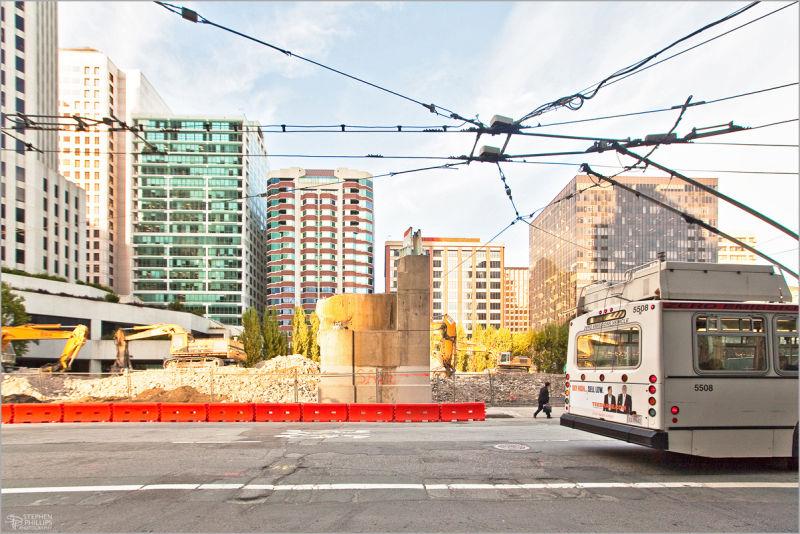 demolition along Beale Street San Francisco