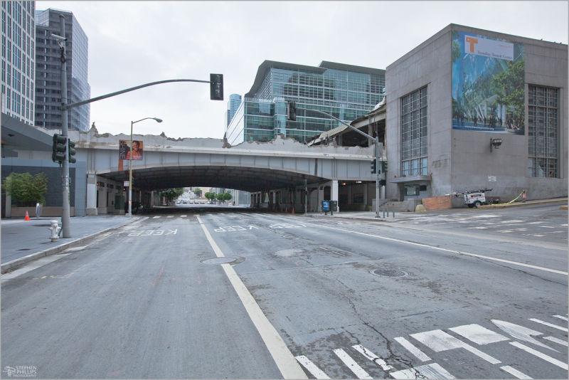 tear down of the San Francisco Transit Terminal